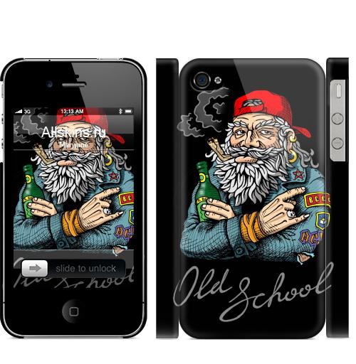 Чехол матовый для iPhone 4,4S Old School,  купить в Москве – интернет-магазин Allskins, english, надписи, волосы, косяк, школа, 80-е, металл, старая, олдскулл