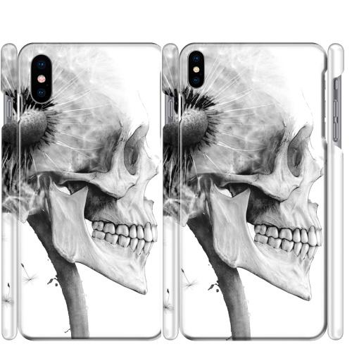 Чехол глянцевые для iPhone X ОДУВАНЧ,  купить в Москве – интернет-магазин Allskins, розыгрыш, прикол, череп, скелет, цветы, идея, металл, rock