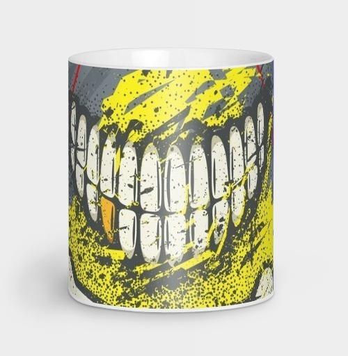 Фотография футболки Костяная улыбка (гранж версия)