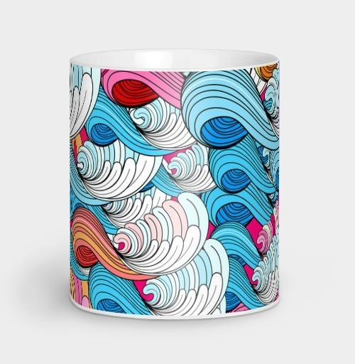 Фотография футболки Морские абстрактные волны