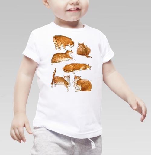 Фотография футболки Паттерн с рыжими котами