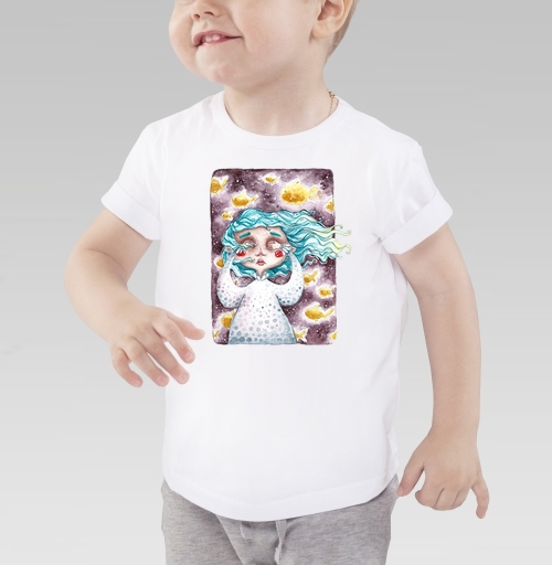 В моем сне плавали золотые рыбы, talloshau, Детская футболка белая 160гр