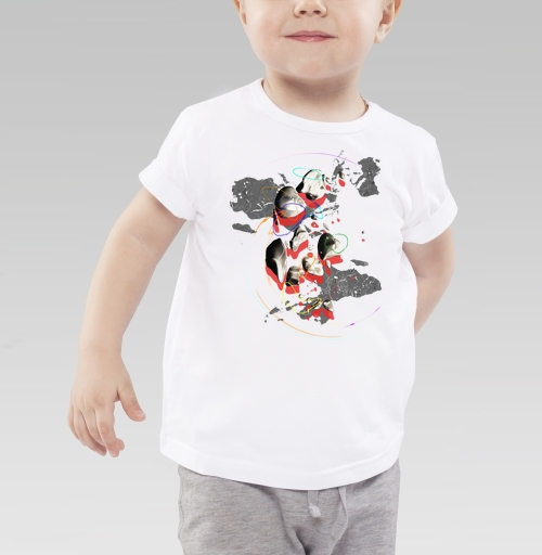 Детская футболка белая - СПЭЙС