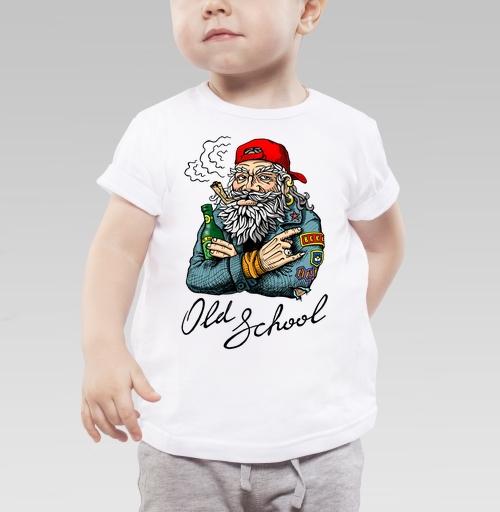 Детская футболка белая - Old School