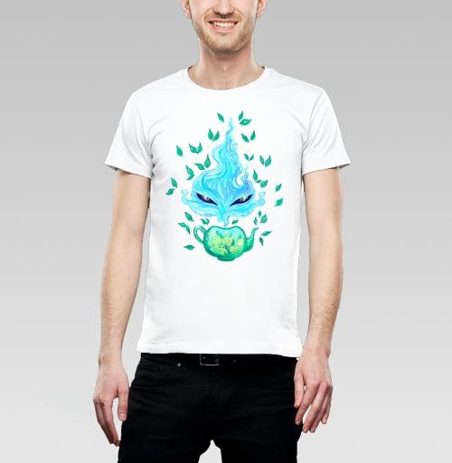 Мятный чай, KataMk, Магазин футболок  ^..^  Катейка, Футболка мужская белая 160гр