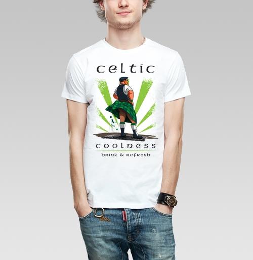 Кельтская свежесть, Probert, Магазин футболок Probert, Футболка мужская белая 160гр