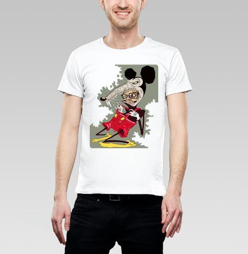 Футболка мужская белая 180гр - Потребитель – жертва капитализма.