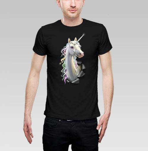 Фотография футболки Единорог в лесу