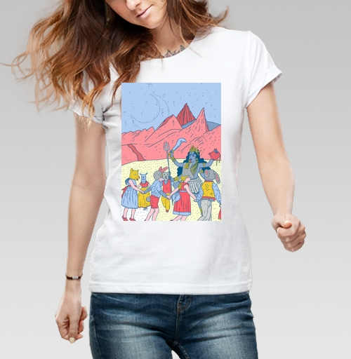 Фотография футболки Розовые холмы