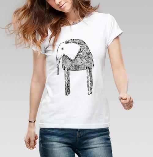 Фотография футболки Черно-белый слон