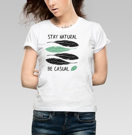 Фотография футболки Будь настоящим, будь случайным...