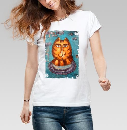 Фотография футболки Кот - мечтун.