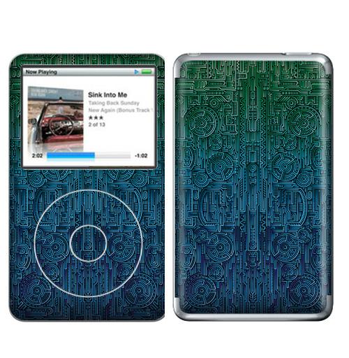 Наклейка на iPod&MP3 Apple iPod Classic Структура ментакулус,  купить в Москве – интернет-магазин Allskins, киберпанк, техно, техника, гики, паттерн, ментакулус, музыка