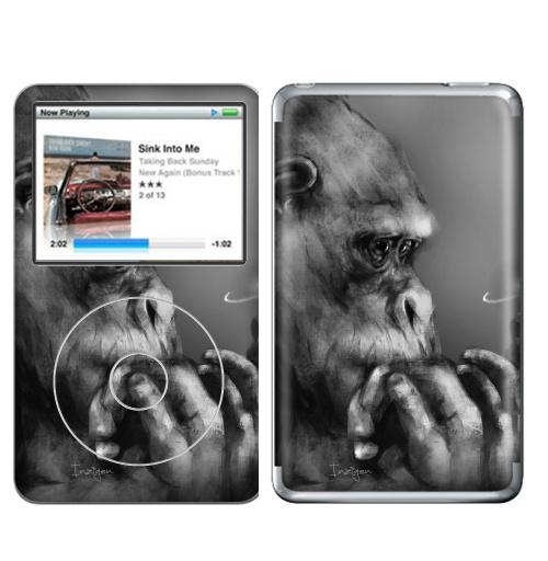 Наклейка на iPod&MP3 Apple iPod Classic Горилла,  купить в Москве – интернет-магазин Allskins, обезьяна, животные, космос