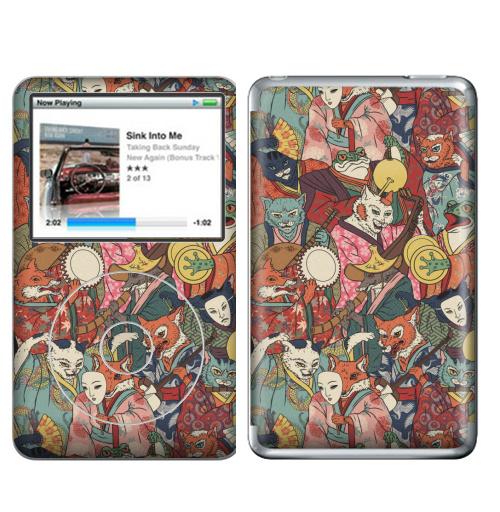 Наклейка на iPod&MP3 Apple iPod Classic Ночной парад,  купить в Москве – интернет-магазин Allskins, музыка, кошка, лиса, кицунэ, оборотни, духи, демоны, Япония, миф