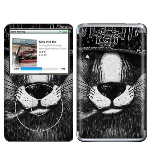 Наклейка на iPod&MP3 Apple iPod Classic Лис бандит. это пахнет ёлкой,  купить в Москве – интернет-магазин Allskins, крутые животные, животные, зима, любовь, кровь, хитрый, bandit, лиса, милые животные