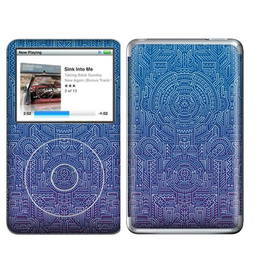 Наклейка на iPod&MP3 Apple iPod Classic Ментакулус,  купить в Москве – интернет-магазин Allskins, микросхема, МАТРИЦА, узор, музыка, техно, техника