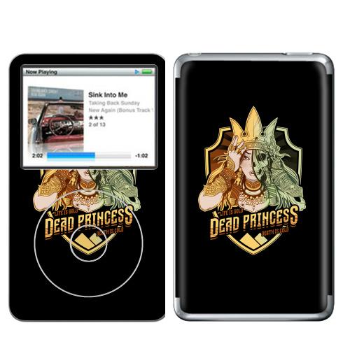 Наклейка на iPod&MP3 Apple iPod Classic Мертвая царевна,  купить в Москве – интернет-магазин Allskins, пауки, Курган, смерть, девушка, череп, Легенды, золото, зомби, Мифы