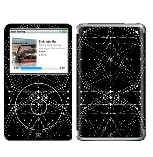 Наклейка на iPod&MP3 Apple iPod Classic Священная геометрия форм,  купить в Москве – интернет-магазин Allskins, сакральное, геометрия, дух, девушка, секрет, духовность
