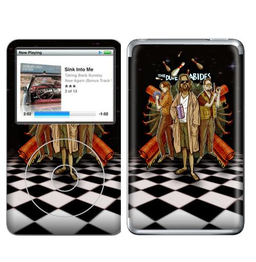 Наклейка на iPod&MP3 Apple iPod Classic Этот ковер задавал стиль всей комнате,  купить в Москве – интернет-магазин Allskins, хулиган, ЛЕБОВСКИ, цитаты, quote, dude, кино, lebovsky