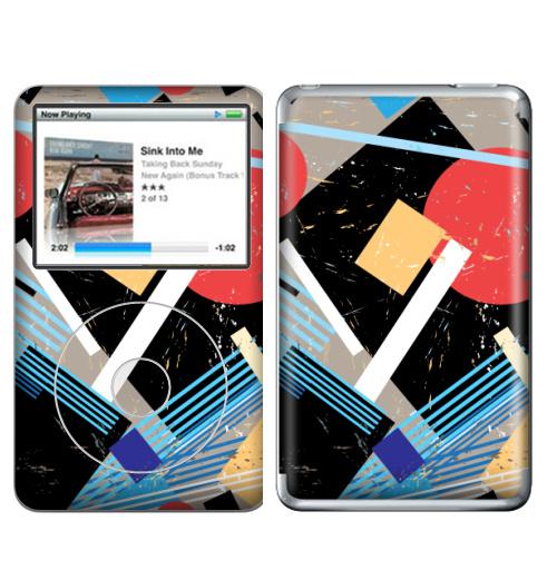 Наклейка на iPod&MP3 Apple iPod Classic Авангард,  купить в Москве – интернет-магазин Allskins, графика, абстракция, мода, авангард, геометрия, паттерн, ткань