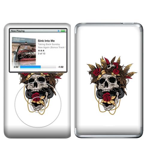 Наклейка на iPod&MP3 Apple iPod Classic Гнездо кукушки,  купить в Москве – интернет-магазин Allskins, череп