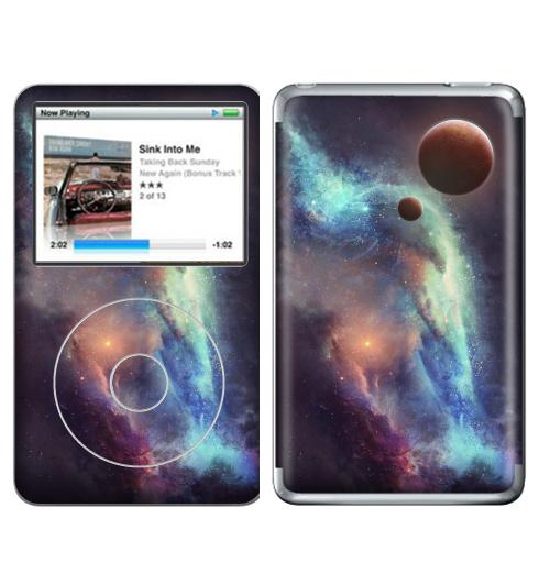 Наклейка на iPod&MP3 Apple iPod Classic Красные планеты,  купить в Москве – интернет-магазин Allskins, космос, земля, туманность, звезда, небо, галактика, фантастика, паттерн, искусство, концепт