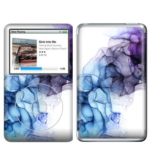 Наклейка на iPod&MP3 Apple iPod Classic Фиолет,  купить в Москве – интернет-магазин Allskins, фиолет, дым, фиолетово, фиолетовый, гоолубой, разводы, абстракция, модно