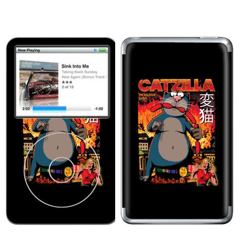 Наклейка на iPod&MP3 Apple iPod Classic КОТЗИЛЛА,  купить в Москве – интернет-магазин Allskins, годзилла, кино, персонажи, котята, кошка, ужасный, пародия, прикол, приключения