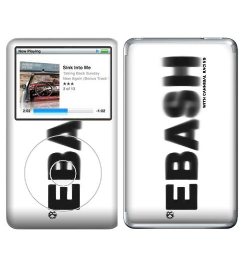 Наклейка на iPod&MP3 Apple iPod Classic Ебаш,  купить в Москве – интернет-магазин Allskins, черно-белое, ебаш, надписи, мат
