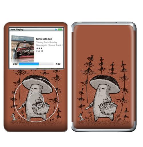 Наклейка на iPod&MP3 Apple iPod Classic Грибы пошли,  купить в Москве – интернет-магазин Allskins, грибы, прикол