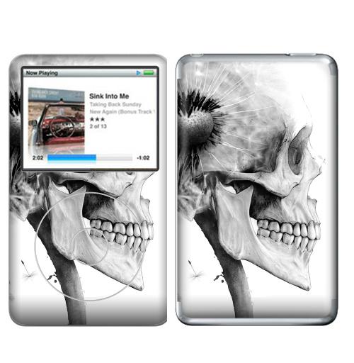 Наклейка на iPod&MP3 Apple iPod Classic ОДУВАНЧ,  купить в Москве – интернет-магазин Allskins, розыгрыш, прикол, череп, скелет, цветы, идея, металл, rock