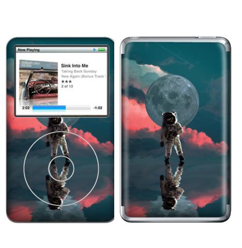 Наклейка на iPod&MP3 Apple iPod Classic Я один,  купить в Москве – интернет-магазин Allskins, космос, космонавтика, одиночество, луна, небо