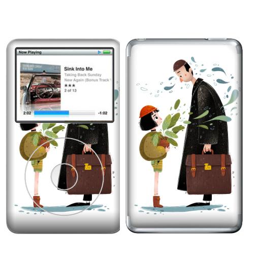 Наклейка на iPod&MP3 Apple iPod Classic Леон,  купить в Москве – интернет-магазин Allskins, романтика, кино, leon, матильда, романтичный, Ньюйорк, франзузский