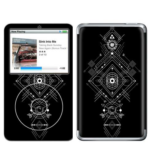 Наклейка на iPod&MP3 Apple iPod Classic Мистическая геометрия,  купить в Москве – интернет-магазин Allskins, монохром, мистический, геометрический, геометрия, фигуры