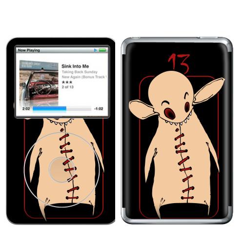 Наклейка на iPod&MP3 Apple iPod Classic Тринадцатый этаж,  купить в Москве – интернет-магазин Allskins, лифт, графика, глазница, город, ушастик, уши, существо, существа, этаж, Тринадцатый