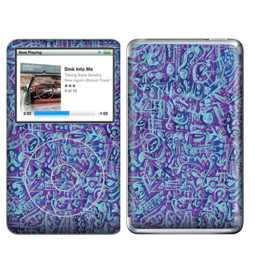 Наклейка на iPod&MP3 Apple iPod Classic В мирских вещах,  купить в Москве – интернет-магазин Allskins, абстракция, абстрация, текстура, голубой, фиолетовый