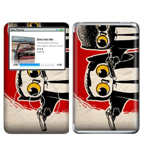 Наклейка на iPod&MP3 Apple iPod Classic Надо было взять дробовики.,  купить в Москве – интернет-магазин Allskins, мафия, классика, кино, мужик, костюм, военные, сова, оружие, черный, красный, надписи, english