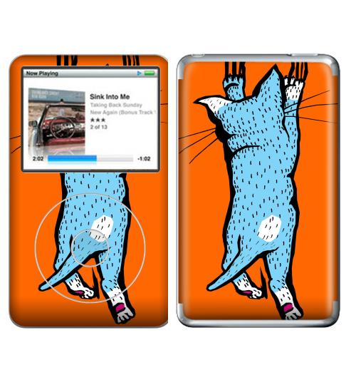 Наклейка на iPod&MP3 Apple iPod Classic Царапка,  купить в Москве – интернет-магазин Allskins, милые животные, женские, малыш, усы, кошка, животные