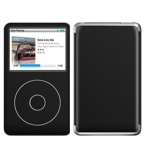 Наклейка на iPod&MP3 Apple iPod Classic Наклейка под карбон,  купить в Москве – интернет-магазин Allskins, полностьючерный, текстура, паттерн