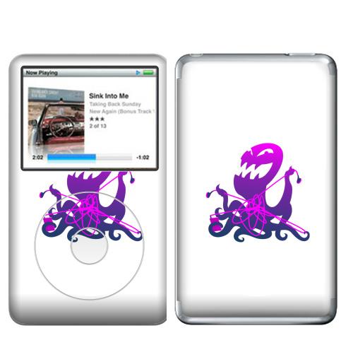наклейка на Ipodmp3 Apple Ipod Classic запутанные наушники купить