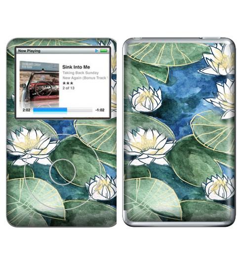 Наклейка на iPod&MP3 Apple iPod Classic Лилия,  купить в Москве – интернет-магазин Allskins, цветы, лилия, птицы, акварель, лилии