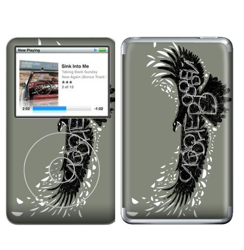 Наклейка на iPod&MP3 Apple iPod Classic Слово не воробей,  купить в Москве – интернет-магазин Allskins, птицы, полёт, перья, орел, клюв, надписи