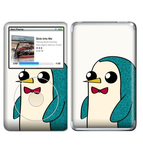 Наклейка на iPod&MP3 Apple iPod Classic Новогодний Гюнтер,  купить в Москве – интернет-магазин Allskins, мультфильмы, птицы, пингвин, персонажи, животные