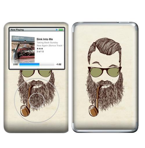 Наклейка на iPod&MP3 Apple iPod Classic Верьте мне, у меня есть борода,  купить в Москве – интернет-магазин Allskins, борода, мужские, капитан, хипстер, трубка, очки, волосы, человек, люди