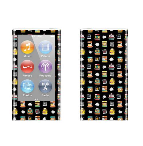 Наклейка на iPod&MP3 Apple iPod nano  7th gen. Моментальное фото,  купить в Москве – интернет-магазин Allskins, фотоаппарат, паттерн, яркий, черный, хипстер, фотография