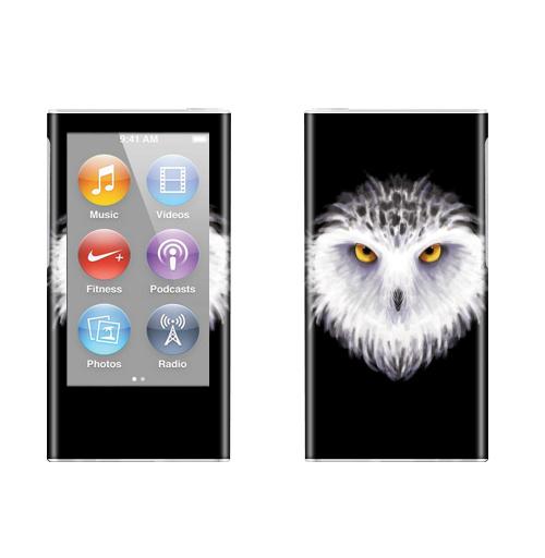 Наклейка на iPod&MP3 Apple iPod nano  7th gen. Зимняя сова,  купить в Москве – интернет-магазин Allskins, птицы, сова