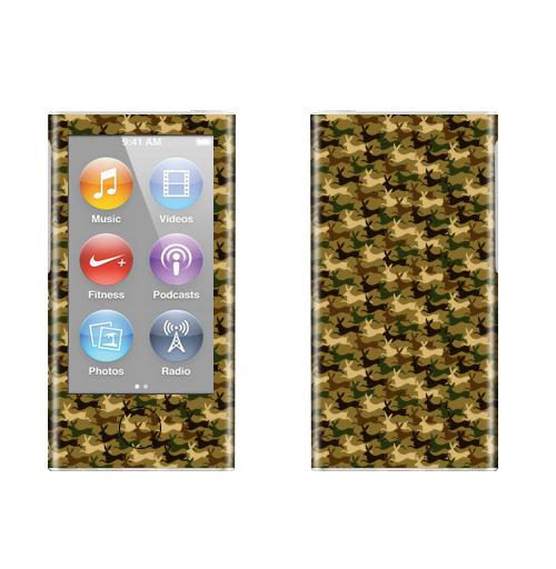 Наклейка на iPod&MP3 Apple iPod nano  7th gen. Кролифляж,  купить в Москве – интернет-магазин Allskins, камуфлированный, забавный, заяц, кролики, милые, военные, камуфляж