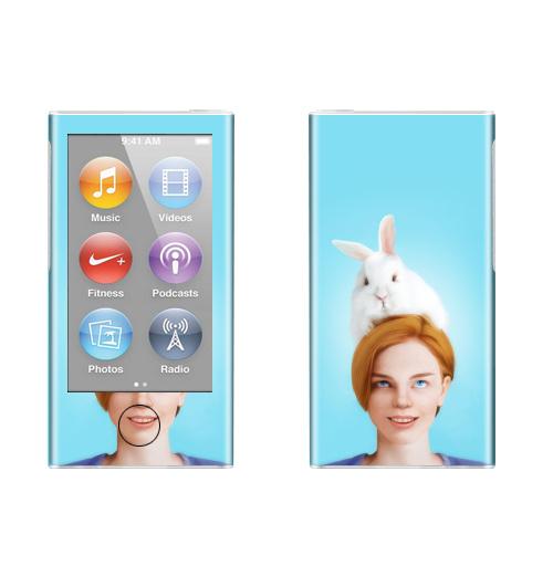 Наклейка на iPod&MP3 Apple iPod nano  7th gen. Алиса, следуй за белым кроликом,  купить в Москве – интернет-магазин Allskins, Алиса в стране чудес, заяц, белый