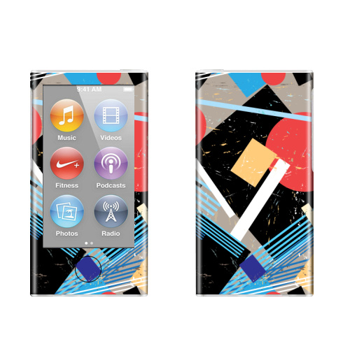 Наклейка на iPod&MP3 Apple iPod nano  7th gen. Авангард,  купить в Москве – интернет-магазин Allskins, графика, абстрактные, мода, авангард, геометрия, паттерн, ткань